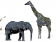 "Science and art meet in Dr. Pennington's piece ""RPE Safari""."
