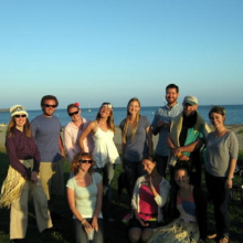 Teisha's Defense BBQ at Goleta Beach. (L-R): Teisha Rowland, Josh Dorst, Amy DeWitt, Lyndsay Leach, Britney Pennington, Cassidy Hinman, Dave Buchholz, Dennis Clegg, Rebekah Ashley and Tracy Clevenger.