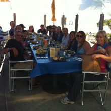 Beachside Goodbye Lunch for Amy DeWitt, Carrie Wall and Chinchilla, 2012.