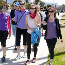 2014 Santa Barbara Vision Walk. Left to Right: Roxanne Croze, Michelle Maloney, Lyndsay Leach, Tracy Clevenger