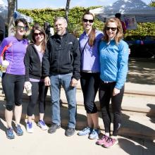 2014 Santa Barbara Vision Walk. Left to Right: Roxanne Croze,Tracy Clevenger, Dennis O. Clegg, Michelle Maloney, Lyndsay Leach