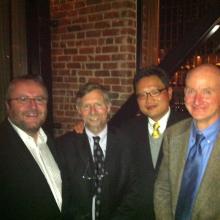 Pete Coffey, Dennis Clegg, Tom Soh, and Jamie Thomson.