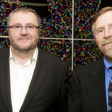 Pete Coffey and Dennis Clegg, Stem Cell Center Grand Opening, 2012.